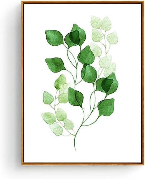 Greenery Prints Botanical Prints Minimalist Wall Art Abstract Paintings Plant Posters Bedroom Wall Decor