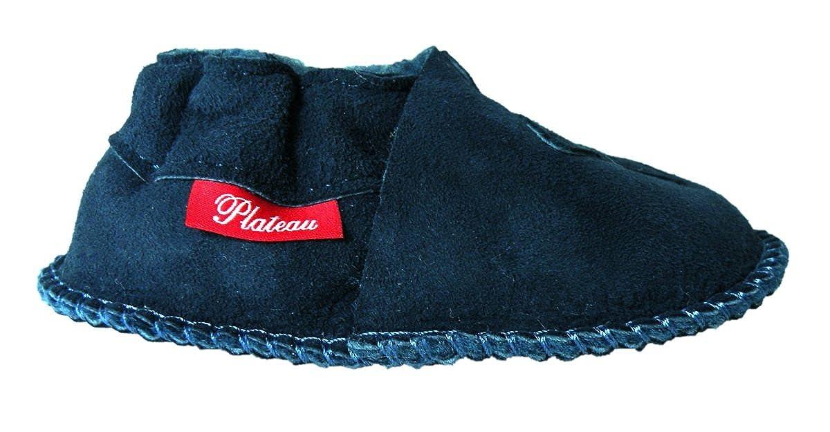 Plateau Tibet Chaussons b/éb/é avec Doublure en VERITABLE Laine dagneau Bottines Chaussures en Cuir Souple gar/çon Fille Enfant Ourson