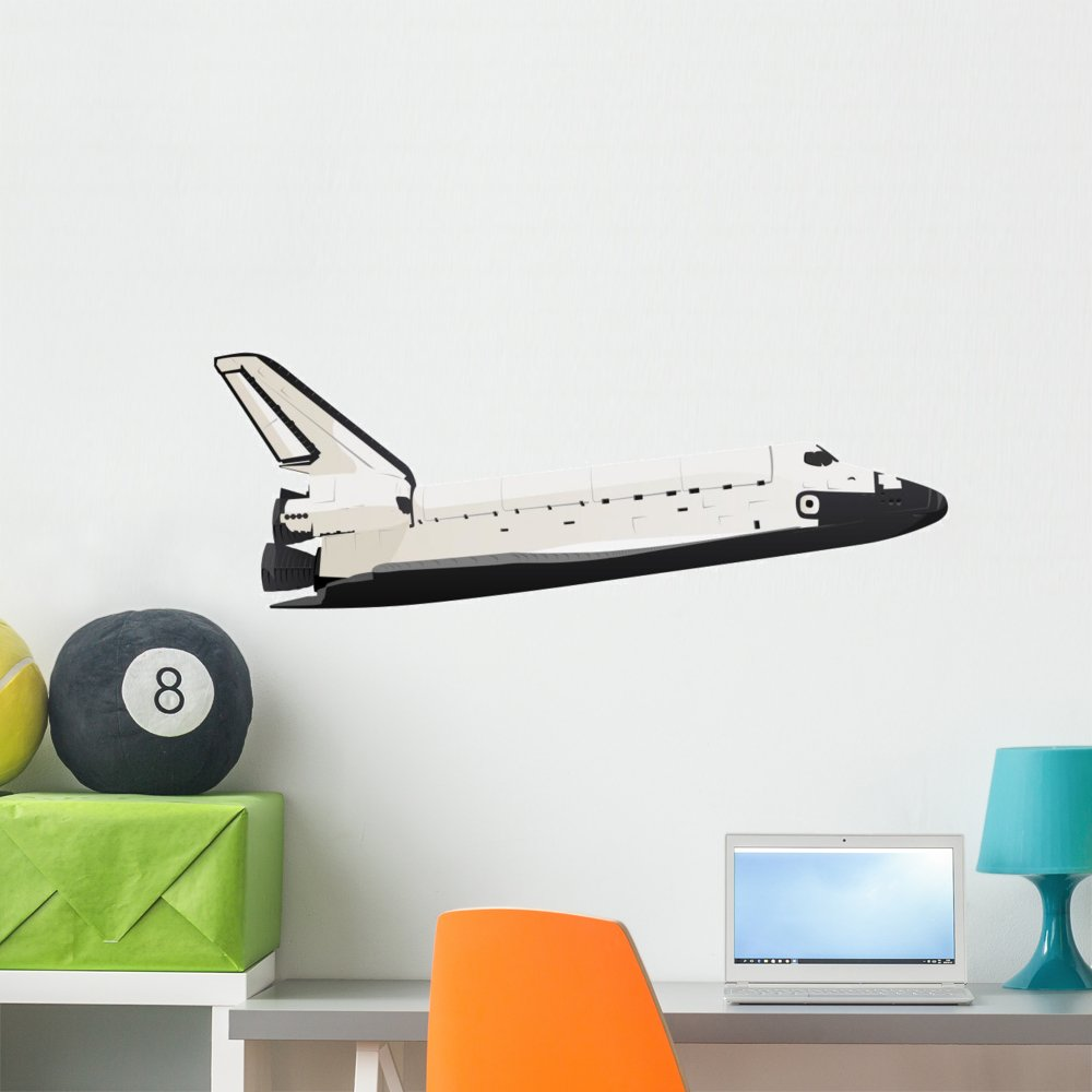 Wallmonkeys WM141865 Space Shuttle Wall Decal Peel and Stick Graphic 18 in W x 10 in H