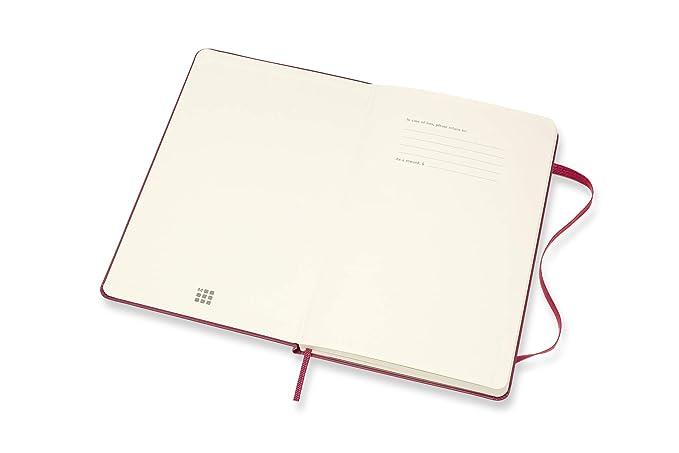 Moleskine - Agenda semanal de 18 meses, académica 2019/2020 con tapa dura y goma elástica, color rosa enérgico, tamaño grande 13 x 21 cm, 208 páginas