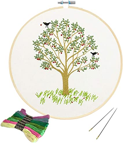 Needlework Tree Gift Idea New Unopened Modern Cross Stitch Embroidery Kit Coziness Topiary Good Catch Crafts Tree