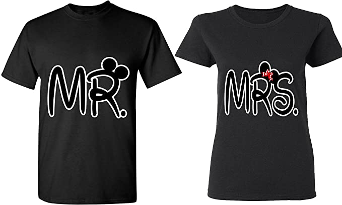 610c42da Amazon.com: Mr. & Mrs - Matching Couple Shirts - His and Her T ...