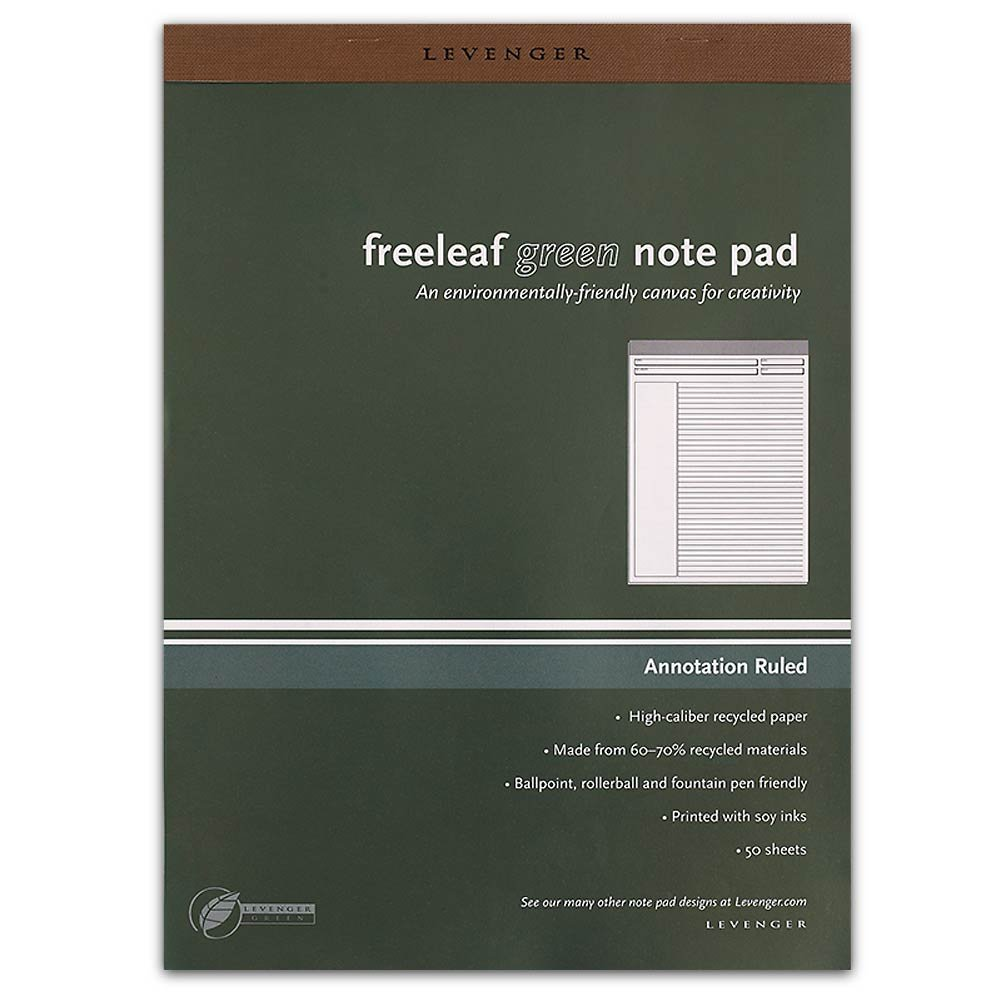 Levenger Freeleaf Recycled Annotation Ruled Pads, Letter(5) (ADS5510)