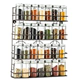 Saganizer 4 Tier spice rack spice organizer, wall spice rack, great idea for spice storage, designed spice shelf