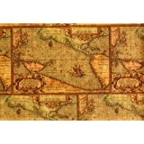 Amazon world map gift wrapping roll 24 x 15 birthday antique map gift wrap 2 x 8 gumiabroncs Gallery