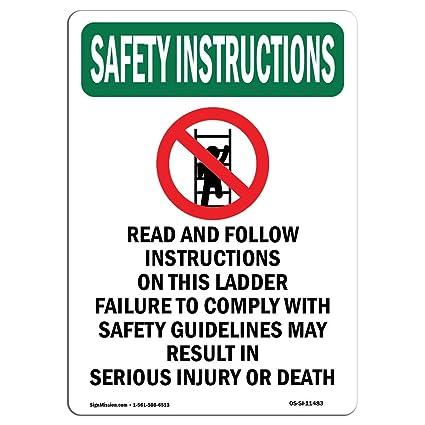 Amazon Osha Safety Instructions Sign Read And Follow