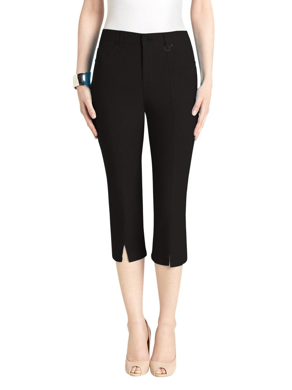 URREBEL pants for womens - Slit Front Capri (Style#3-5353R) by URREBEL