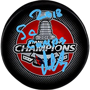 Alex Ovechkin Washington Capitals 2018 Stanley Cup Champions Autographed Stanley Cup Champions Logo Hockey Puck with 2018 SC Champs Inscription Fanatics Authentic Certified