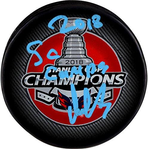 Alex Ovechkin Washington Capitals 2018 Stanley Cup Champions Autographed Stanley Cup Champions Logo Hockey Puck with 2018 SC Champs Inscription - Fanatics Authentic Certified (Autographed Stanley Cup Hockey Puck)