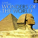 "Scenic Iconic Photographs of Mexico, Greece, Peru, England, Italy, Cambodia - Wonders of the World 2017 Monthly Wall Calendar, 12"" x 12"""