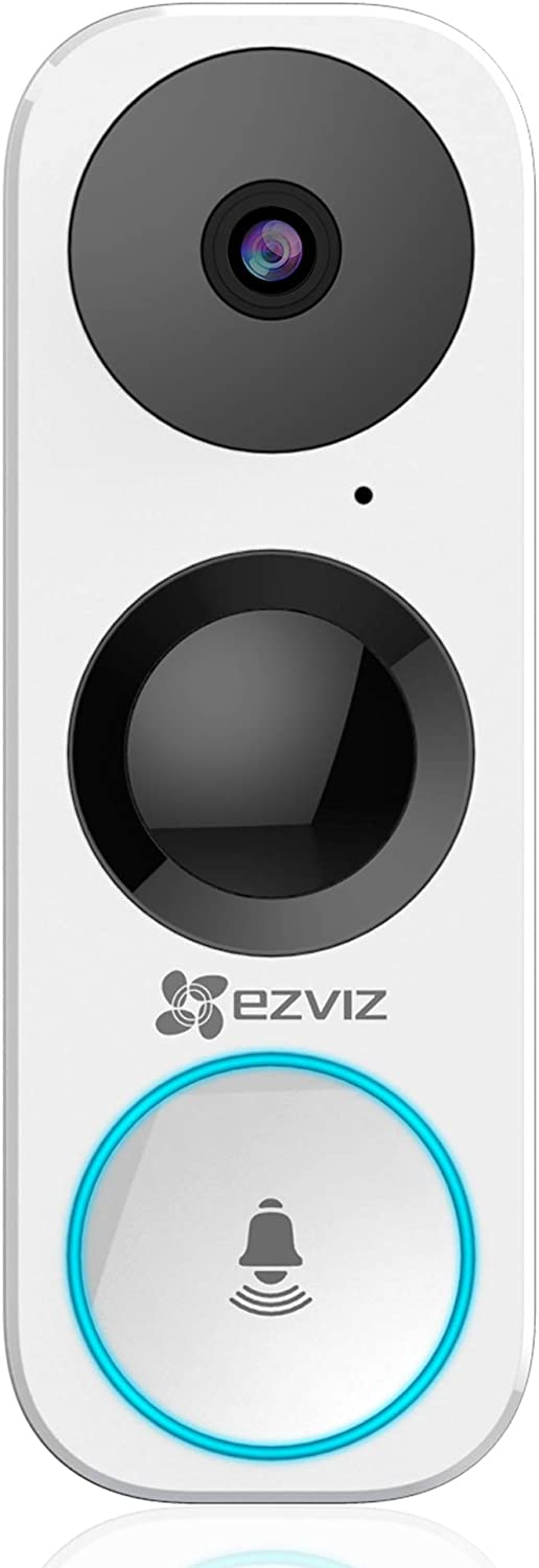 EZVIZ WiFi Video Doorbell, Night Vision, Two-Way Talk, PIR Motion Detection, Weather Proof, 180° Vertical FOV, Free 3-hour Cloud Storage(DB1)