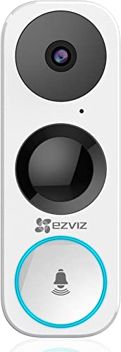 EZVIZ WiFi Video Doorbell, Night Vision, Two-Way Talk, PIR Motion Detection, Weather Proof, 180 Vertical FOV, Free 3-hour Cloud Storage DB1