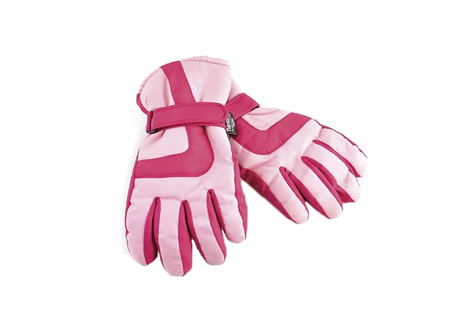 Boys Girls Black Pink Thinsulate 3M 40 gram Thermal Insulation Waterproof Winter Ski Gloves, 4 Sizes / 2 Colours GL061