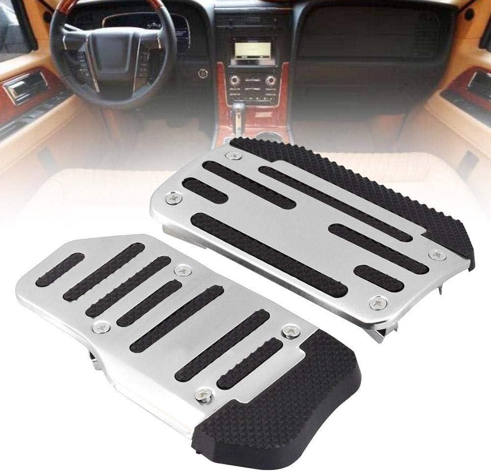 Acc/él/érateur Pad Cover rouge alliage antid/érapant Accelerator Pad Cover Couvre p/édale de frein pour v/éhicules automatiques /à voiture