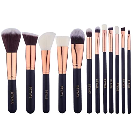 Amazon.com: 12 Pieces Makeup Brushes Set Foundation Blending Blush ...