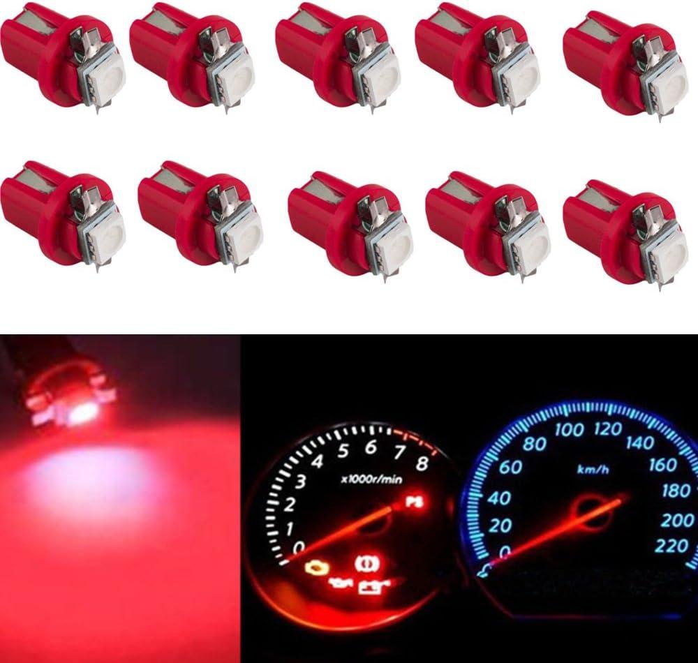 20Pcs Yellow B8.5D T5 Car Gauge 5050SMD LED Instrument Dashboard Cluster Bulbs