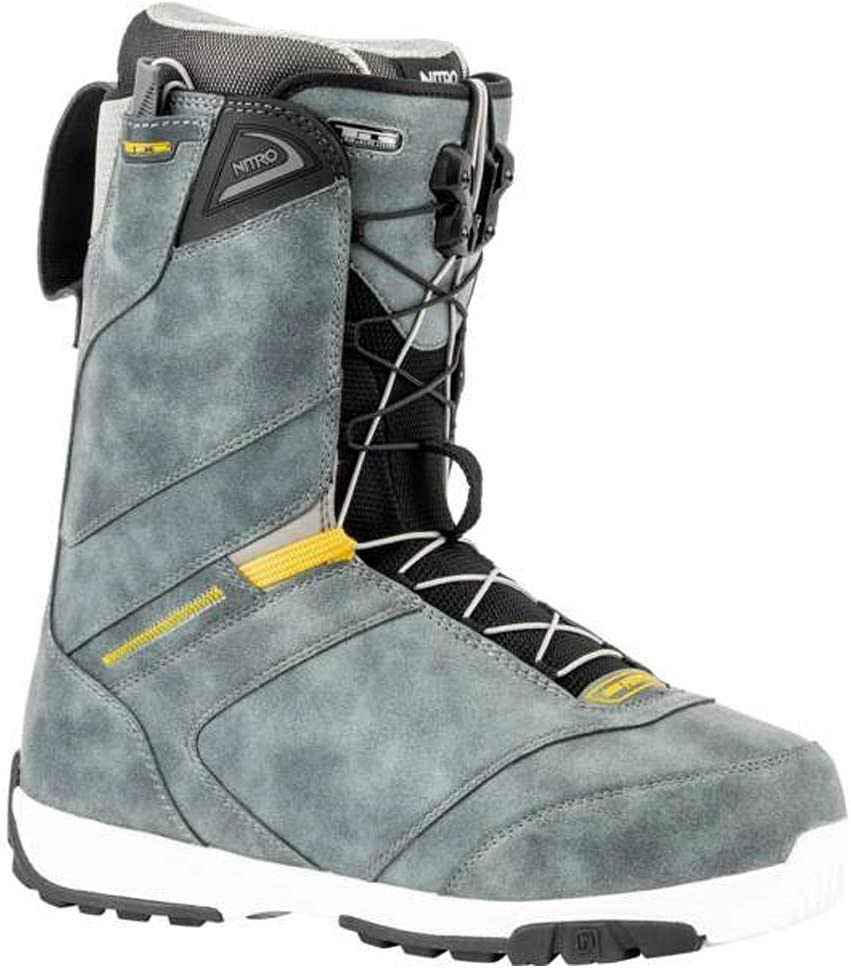 Charcoal 28.5 Nitro Snowboards Mens Anthem TLS 20 All Mountain Freeride Freestyle Speed Lacing System Boat Snowboard Boat