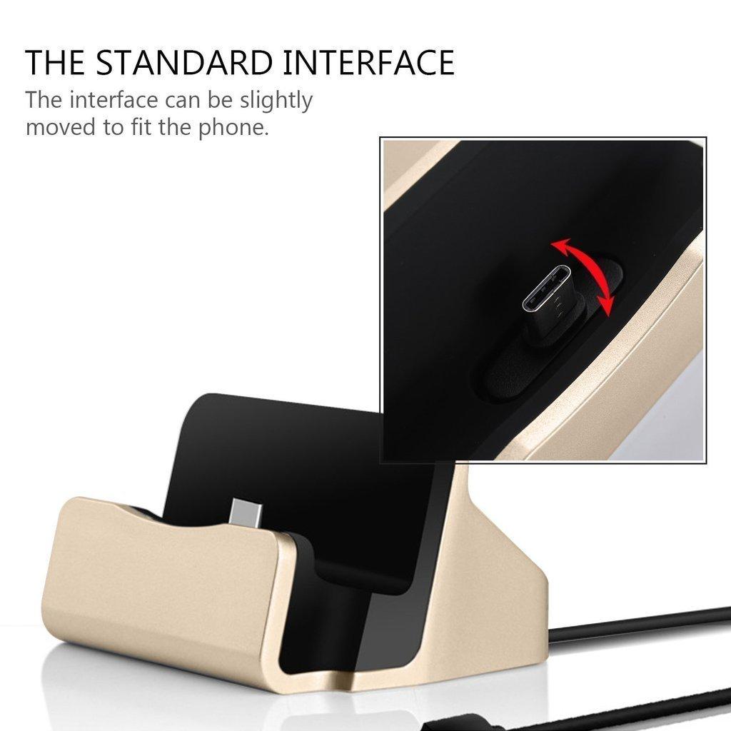 I-Sonite Gold Chargeur de bureau Micro USB Support de base Sync de donn/ées Station daccueil pour Cubot X18 Plus
