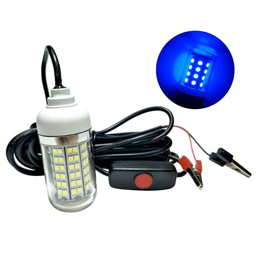 Fish Lamp,12V 15W Super Bright Underwater 108LED Night Fishing Light Attracting Fish Lamp- High Quality