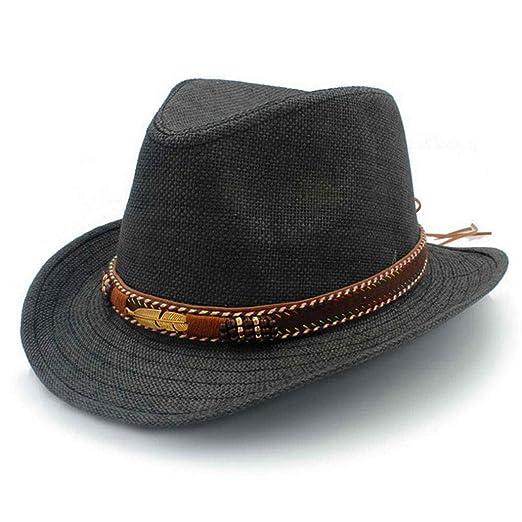 Mens Hollow Western Cowboy Hats Summer Beach Sombrero Sun Cap Unisex at  Amazon Men s Clothing store  025cfc8063c