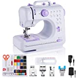 rxmeili Sewing Machine Portable mini Electric Sewing Machine for beginners 12 Built-in Stitches 2 Speed with Foot Pedal,Light