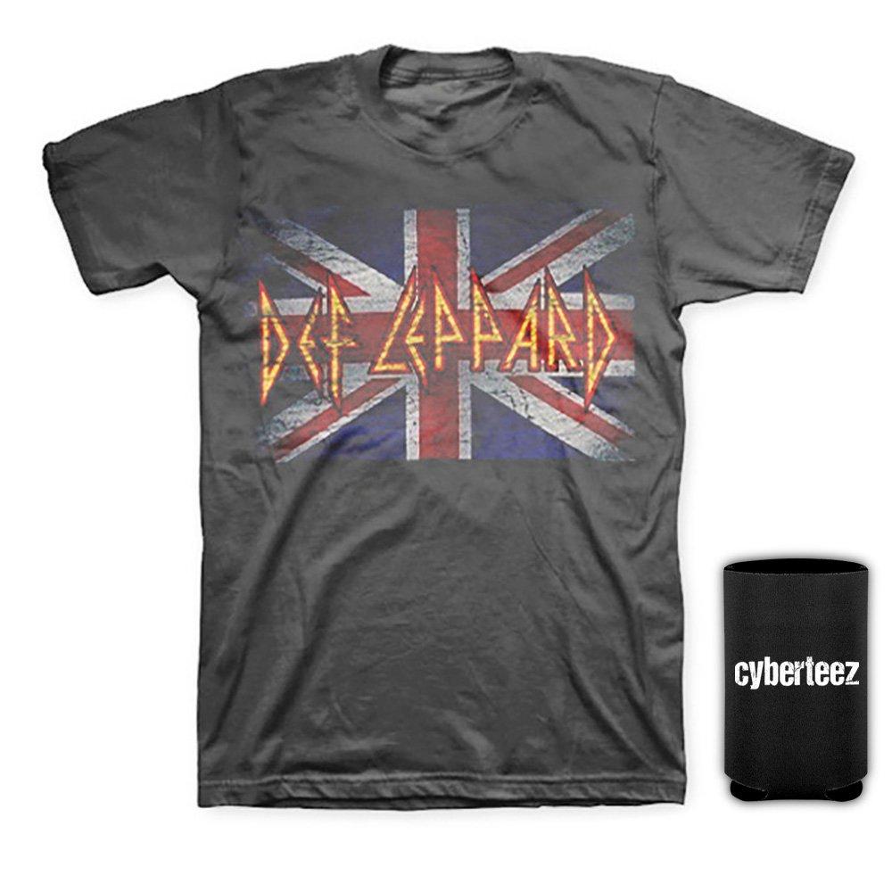 7c0c2479ac3 Top1  Def Leppard Vintage Union Jack Distressed Men s Gray T-Shirt +  Coolie. Wholesale Price 12.95 ...