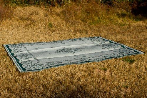 Camco 42850 Stuoia Reversibile per Esterni Verde con Motivi Orientali 2.74m x 3.66m