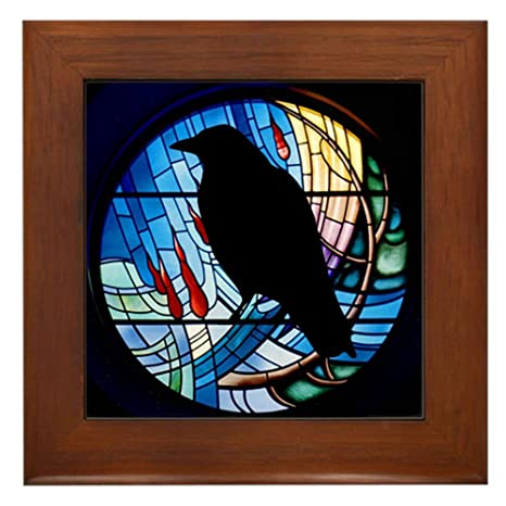92bd837f CafePress - Raven Prism - Framed Tile, Decorative Tile Wall Hanging ...