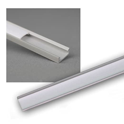 1m Led Kunststoff Profil Mini Grau Abdeckg Opal Amazon De Baumarkt