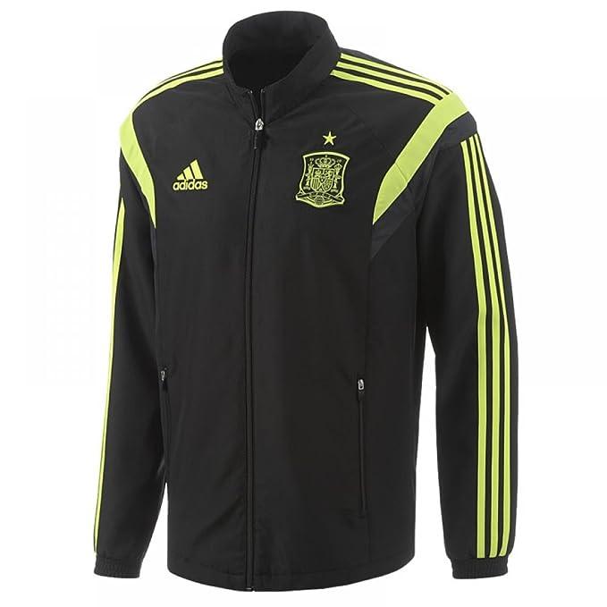 adidas España FEF world cup hombres de poliéster negro fútbol presentación  Chándal 2014 - 15 7b1f70120e74f