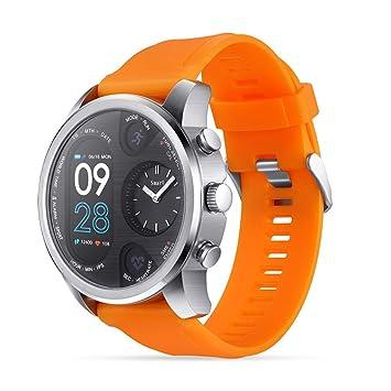 QTEC Montres connectées Nouveau Orange Smart Watch Pression Artérielle Moniteur de Fréquence Cardiaque Podomètre Fitness Étanche