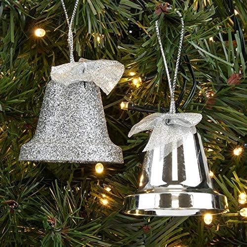 BOxinkk Glocken,20 St/ücke Weihnachten deko,Gl/öckchen Schellen Glocken aus Kupfer 25mm,Jingle Bells,Festival deko