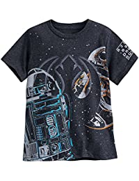 R2-D2 and BB-8 T-Shirt For Boys Last Jedi Black