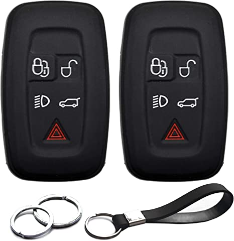 Silicone Shell Cover fit for LAND ROVER LR4 Range Rover Smart Key Case