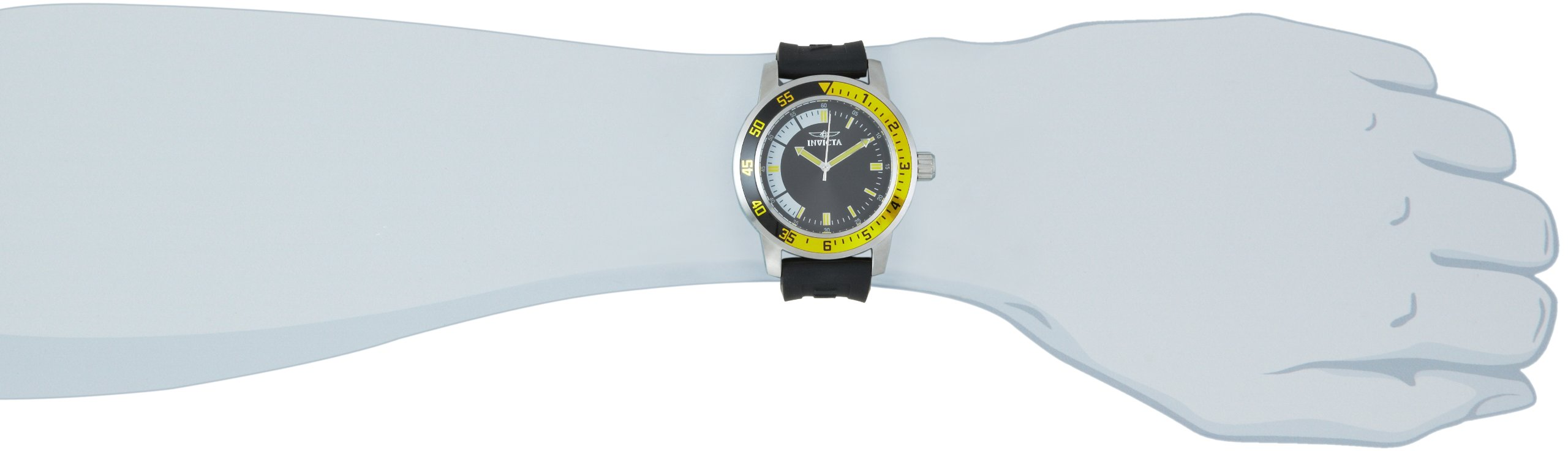 """Invicta Men's 12846 """"Specialty"""" Stainless Steel Watch with Black Band"""