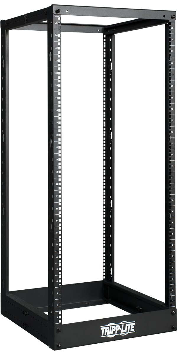 Tripp Lite 25U 4-Post Open Frame Rack, Network Equipment Rack, 1000 lb. Capacity (SR4POST25)