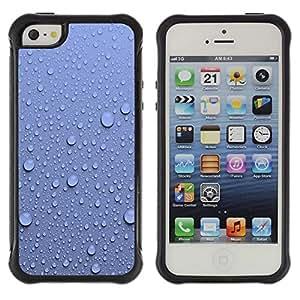 Suave TPU GEL Carcasa Funda Silicona Blando Estuche Caso de protección (para) Apple Iphone 5 / 5S / CECELL Phone case / / Water Droplets Blue Wall Pattern Nature /