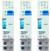 Theben ELPA 8 traplicht-tijdschakelaar - trappenhuis-tijdschakelaar, elektromechanisch, 0080002, wit, set van 3 stuks