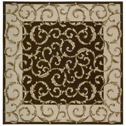 Nourison Versailles Palace (VP43) Chocolate Square Area Rug, 8-Feet by 8-Feet  (8' x 8')