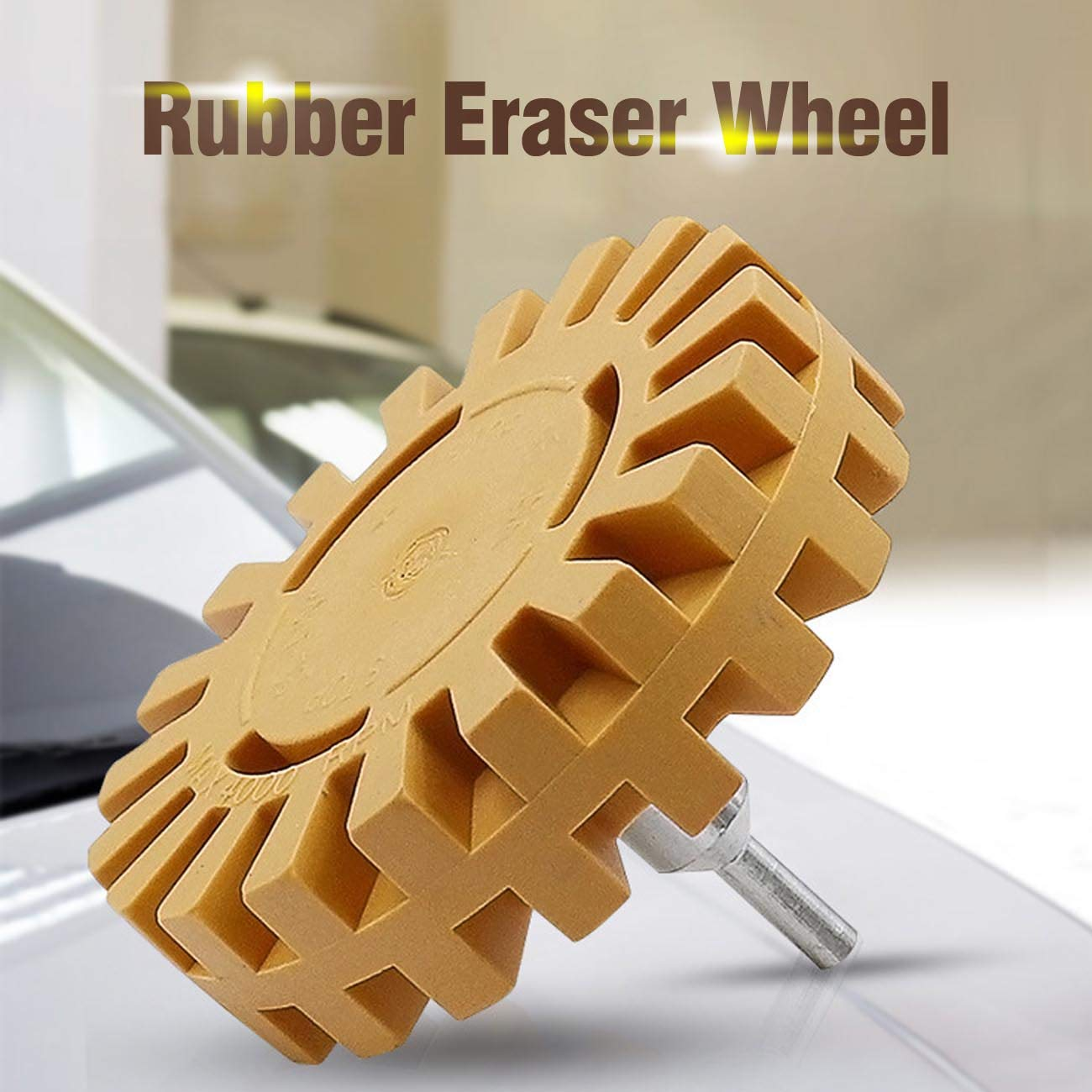 Cars Adhesive Vinyl Decals Vankcp 4 inch Eraser Wheel Decal Removal Eraser Wheel Tool Kit Rubber Eraser Wheel for Removing Cars and Boats Stickers Pinstripes