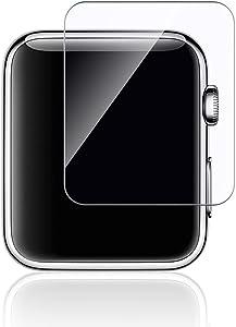 Lu Guoliang Apple Watch Screen Protector (42mm Series 3) Full Coverage Screen Protector for Apple Watch 42 mm - HD Clear