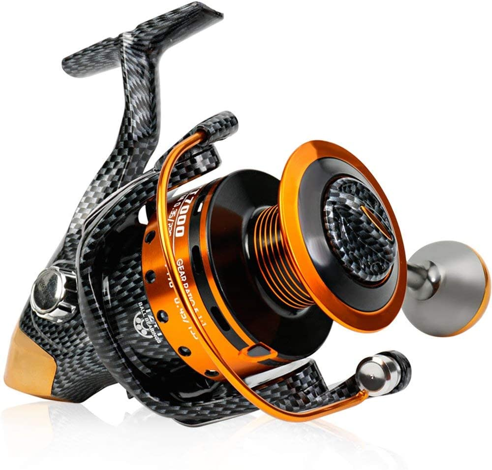 Carrete de pesca spinning 12 + 1 BB Light y Ultra Smooth Potente ...