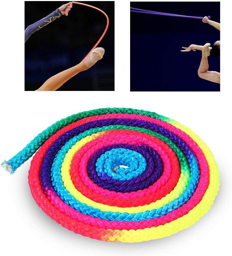 Starbun Corde d\entra/înement Corde de Gymnastique en Nylon Couleur Arc-en-Ciel Arts de Gymnastique Rythmique Corde d\entra/înement corde gymnastique rythmique