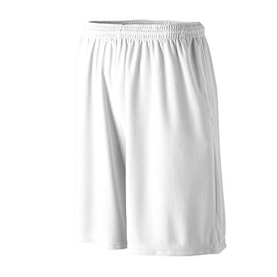 Augusta Sportswear BOYS' LONGER LENGTH WICKING SHORT W/POCKETS