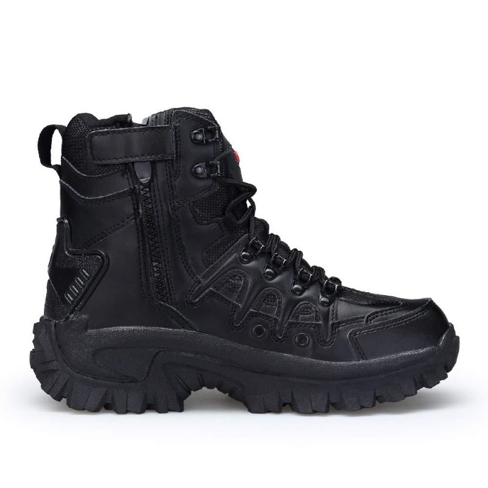 QIKAI Kampfstiefel Chaussures Hiver Zhongbang Work Desert Pour Hommes Bottes De Combat Chaussure De Randonnée En Plein Air à Semelle En Caoutchouc