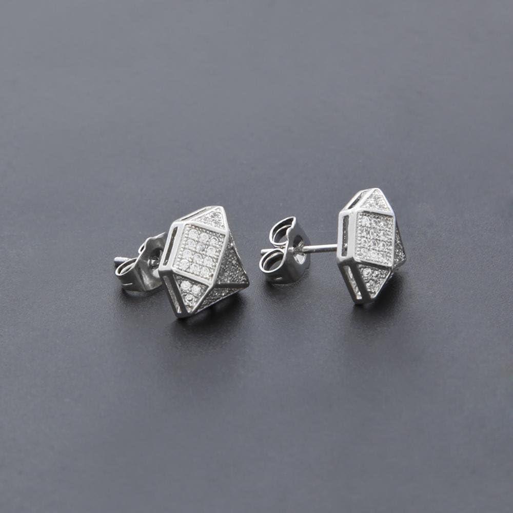 Weiwei Mens Earrings mens ear with zircon brass studs to send friends