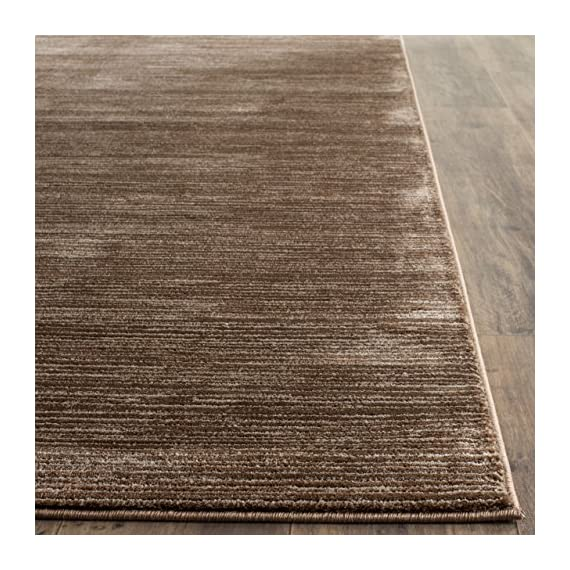 "Safavieh Vision Collection VSN606E Modern Contemporary Ombre Tonal Chic Runner, 2' 2"" x 6', Brown - Tone-on-tone colors give these rugs a clean contemporary vibe Versatile enough to decorate the bedroom, dining room, living room, foyer, or home office Refined power-loomed construction and enhanced polypropylene fibers ensure an easy-care and virtually non-shedding rug - runner-rugs, entryway-furniture-decor, entryway-laundry-room - 612t5z3CBoL. SS570  -"