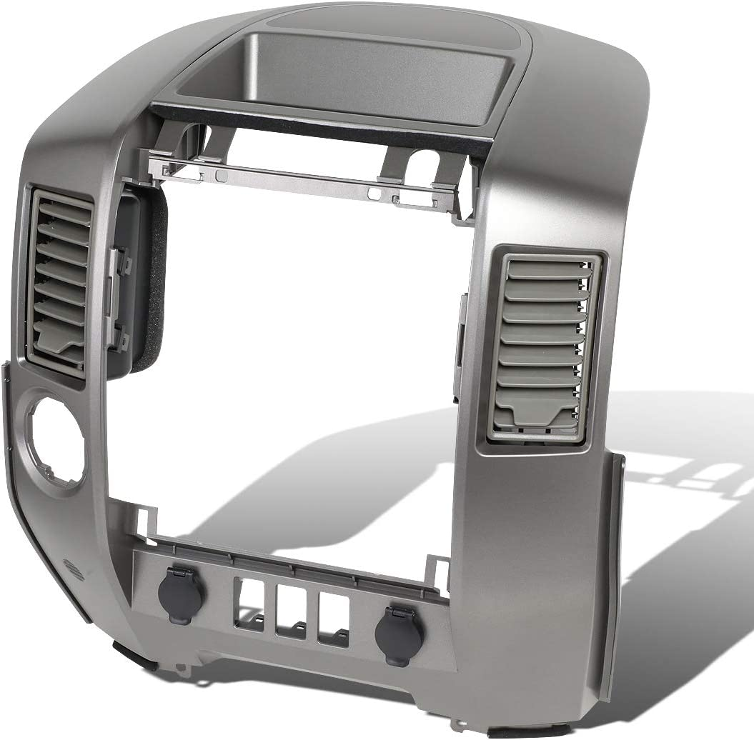 Front Dash Radio Instrument A/C Center Console Bezel w/o Speaker Replacement For Nissan Titan Armada XE SE 2004-2006