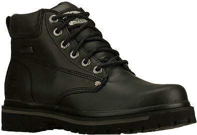 SKECHERS Men's Tom Cats Bully Black Boot 11.5 D ...