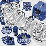 2018 Graduation School Spirit Blue Deluxe Party Supplies Kit
